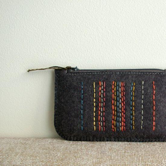 Wool Felt Coin Purse or iPhone #creative handmade
