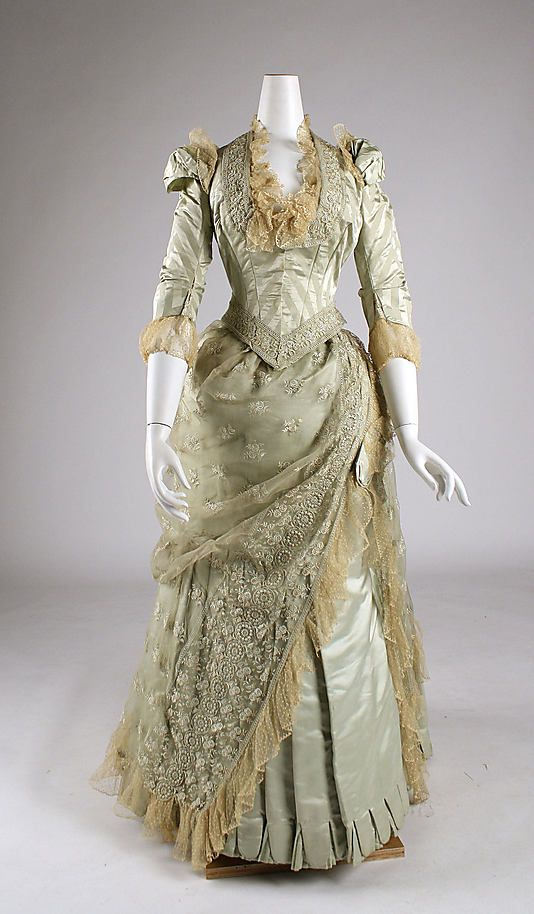 Dress  Date: 1880–85 Culture: American Medium: silk