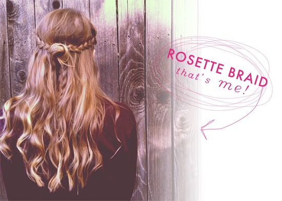 Rosette Braid Hair Tutorial