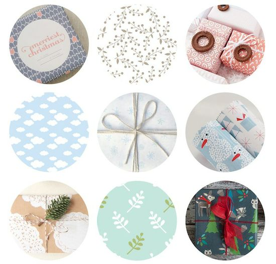 A round up of free printable giftwraps from around the web.