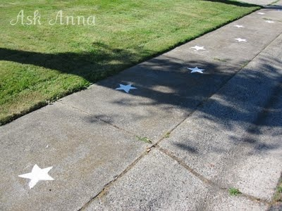 4th of July sidewalk stars.  Super easy!