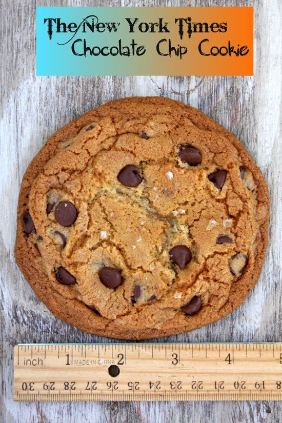 NY Times Chocolate Chip Cookies from @RecipeGirl Lori