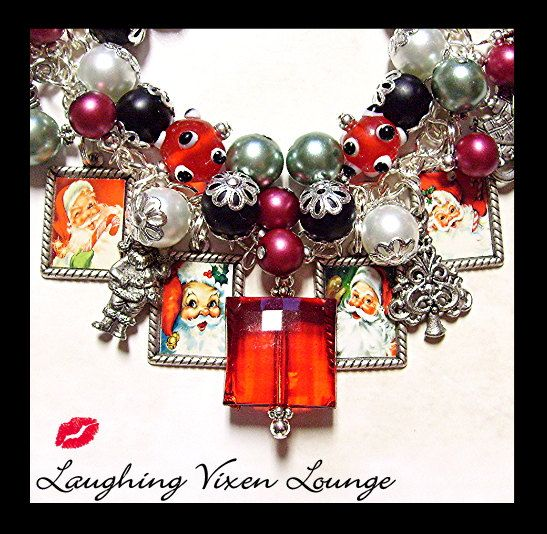 Christmas Jewelry  Christmas Bracelet  by LaughingVixenLounge, $45.00
