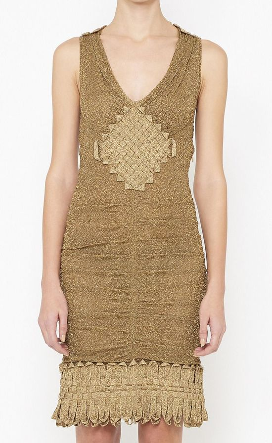 Two-Tone Gold Dress.