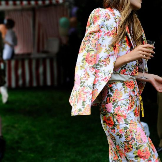 Floral and champagne.