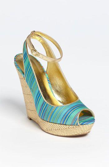 Nine West 'Karmic' Sandal in Turquoise & Gold #Nordstrom #Shoes