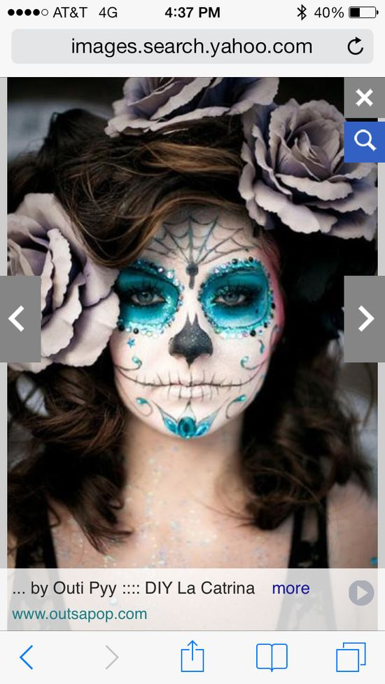Day of the dead makeup, Halloween inspirations...