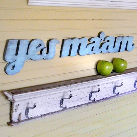 Yes Ma'am Southern Slang Sign Shabby Chic Mothers Day Wooden Sign. $50.00, via Etsy.