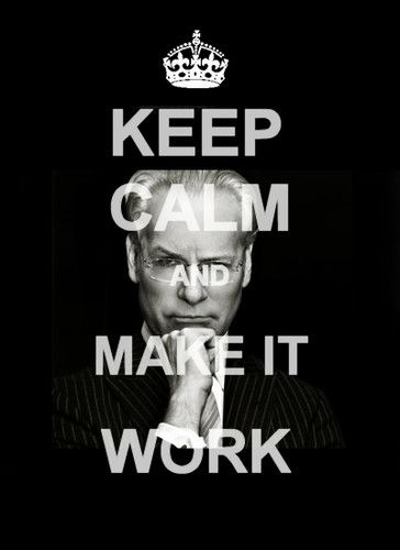 "Tim Gunn ""Keep Calm and Make It Work"" poster@Ashley Mest"
