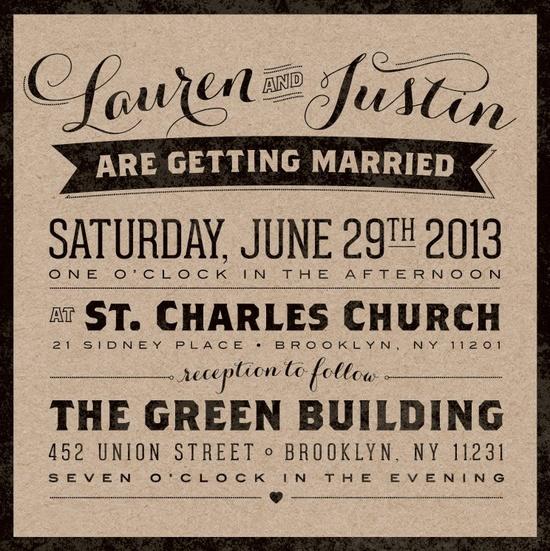 Vintage Urban Kraft Wedding Invitation Suite - August Park Creative