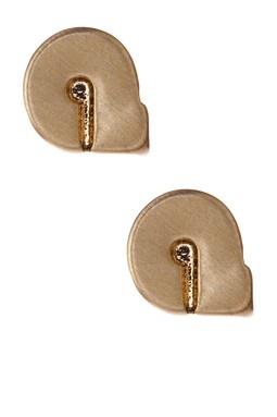 Initial A Cutout Stud Earrings