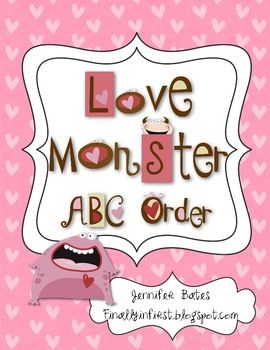 FREE ABC order! Great for literacy centers.