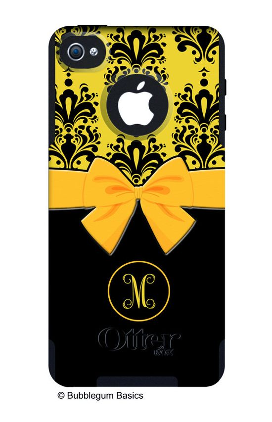 OTTERBOX COMMUTER iPhone 5 4/4S Case Custom Yellow by iselltshirts, $59.90