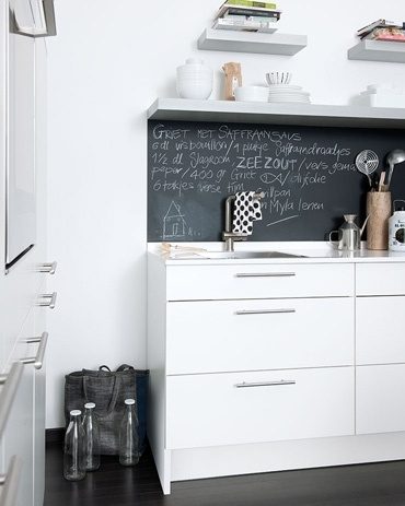 chalkboard wall in kitchen