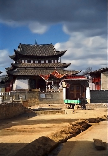 Temple entrance, Zhongdian, Yunnan, China
