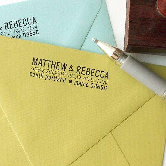 custom return address stamp ?