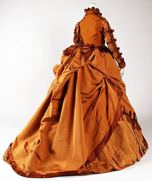 Dress (back view) 1867, French, Made of silk