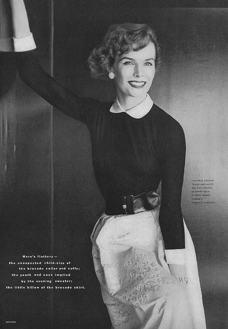 Adore the whole look (especially the cute collar). #vintage #fashion #1950s