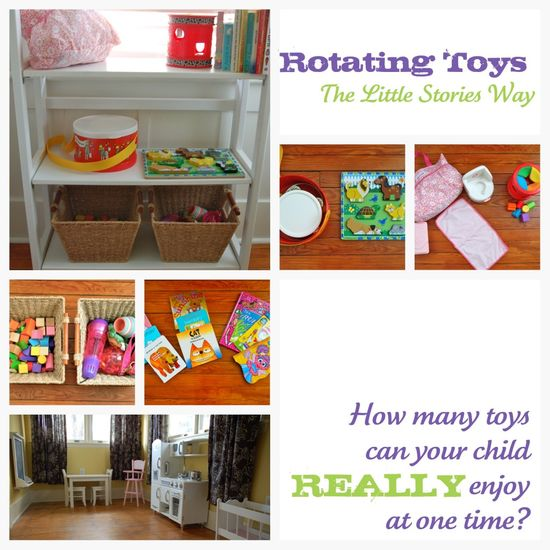 "great suggestions on rotating toys--read deeper in the post...just the kind of ideas I've been looking for! My problem is where to store the ""out"" toys!! :)"