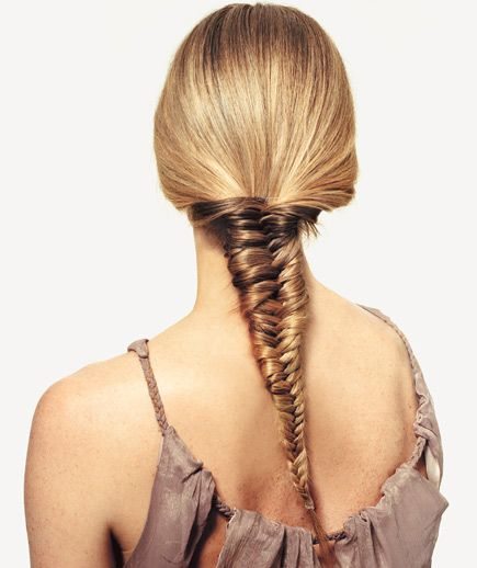 A five-minute fishtail braid how-to
