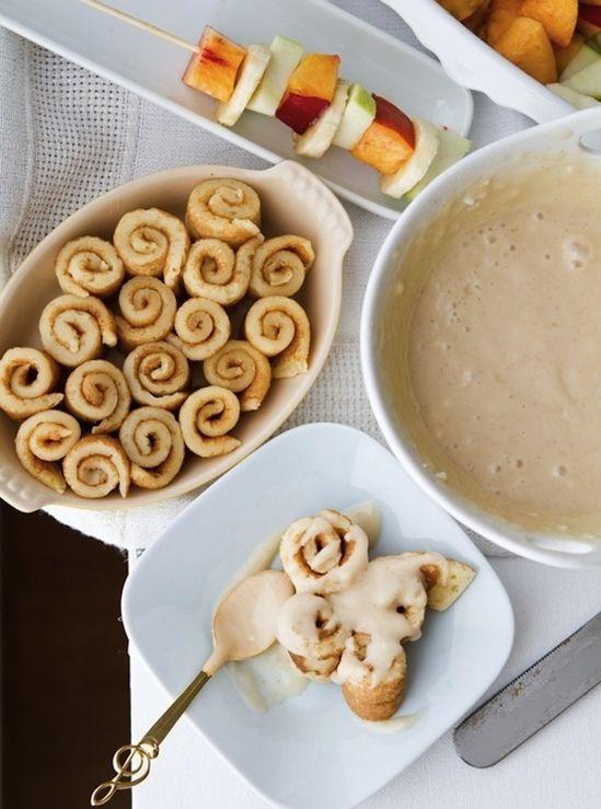 Mini Pancake Cinnamon Rolls