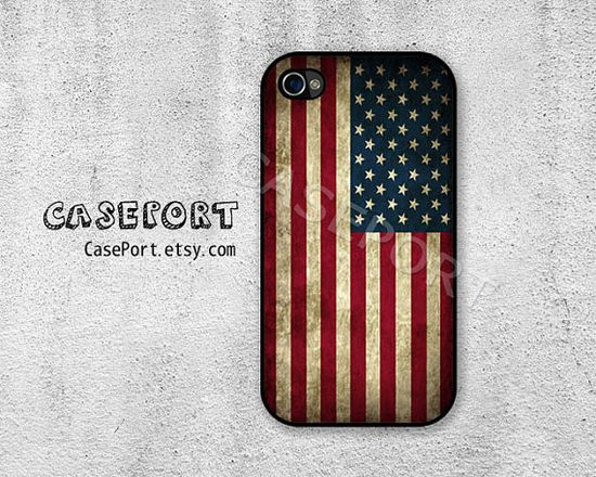American Flag iPhone 4 Case, iPhone 4s Case, iPhone 4 Cover, iPhone 4s Cover, iPhone Hard Case