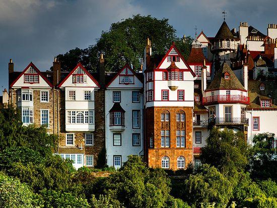 Houses on Ramsay Gardens, Edinburgh, Scotland