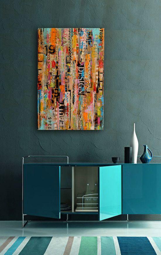 mixed media wall art