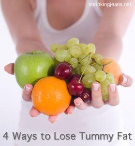 4 Ways to Lose Tummy Fat #health #fitness @shrinkingjeans