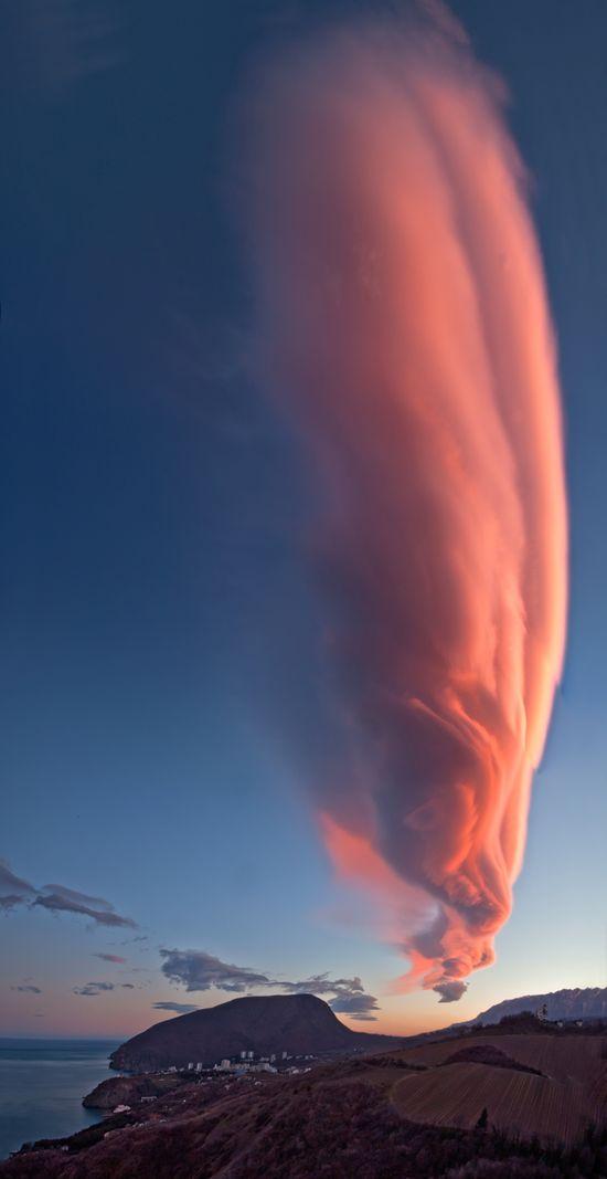 Amazing Cloud formation, Ukraine.