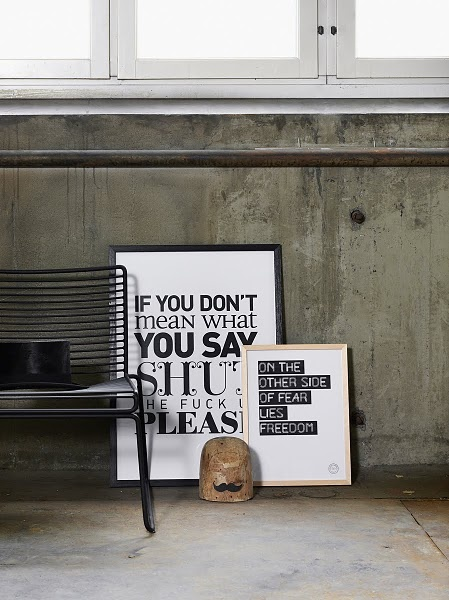 Zwart & Wit posters | villa d'Esta | interieur en wonen