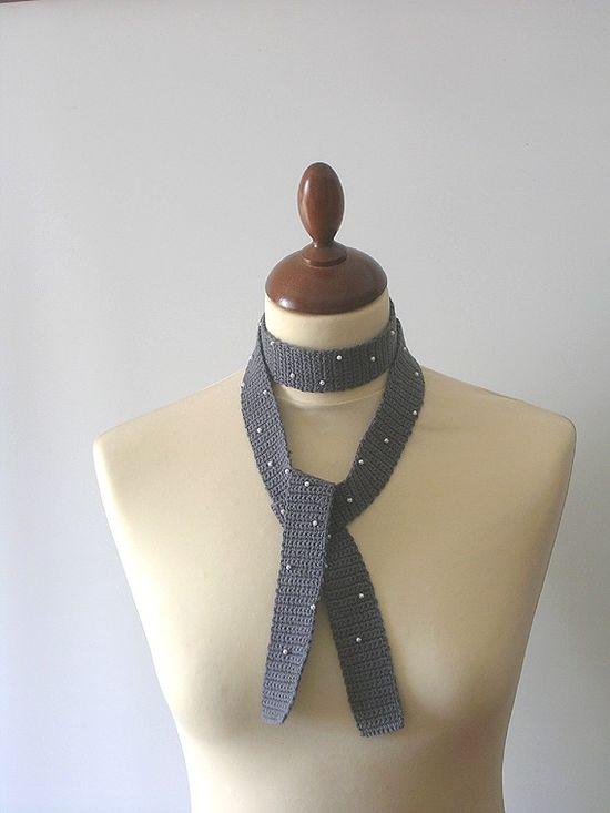 hand-crochet tie