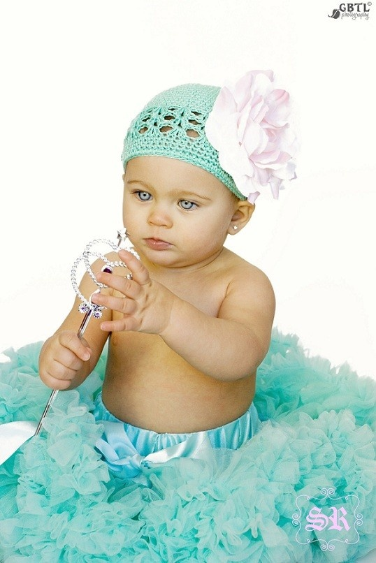 Gorgeous baby girl, gorgeous hat and tutu :-)