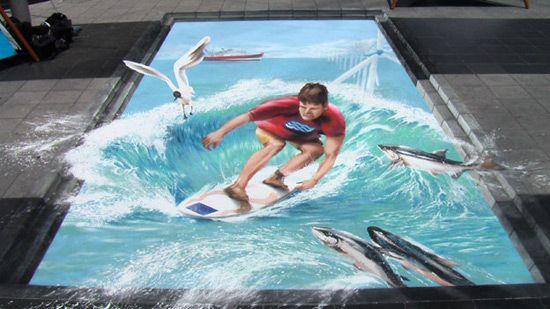 3D chalk, surf