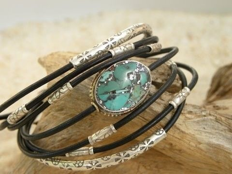 Silver, Turquoise and Leather