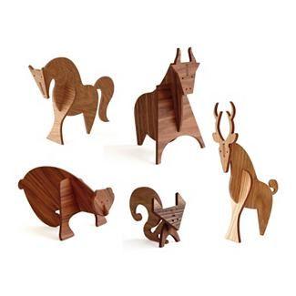 Moderne Wood Animals