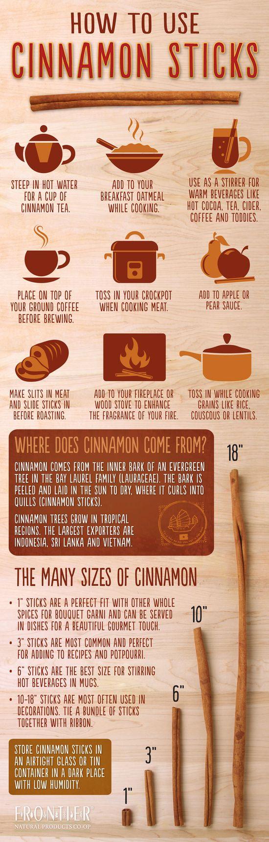 The Health Benefits of #Cinnamon   #Infographic