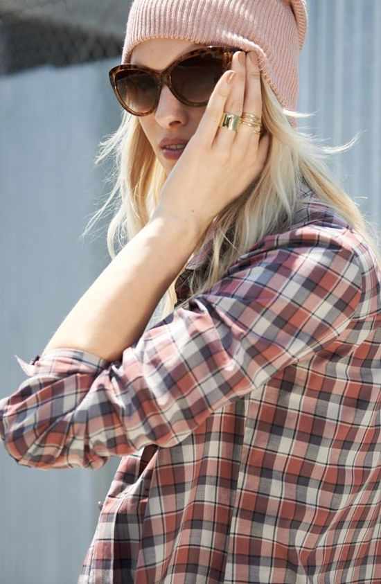 Love! Feminine plaid.