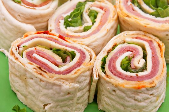 Eight different rolled tortilla recipes