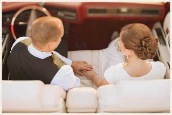 Such a sweet bride and groom shot!