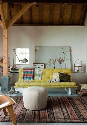Bohemian loft.