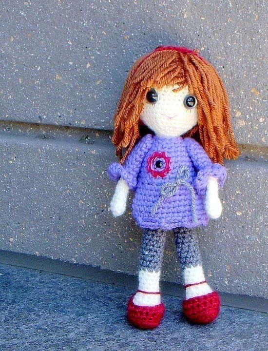 """Vikki - Crochet Amigurumi girl doll pattern / PDF. $4.95, via Etsy."" #Amigurumi  #crochet"