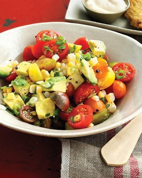 Tomato, Corn, and Avocado Salad Recipe