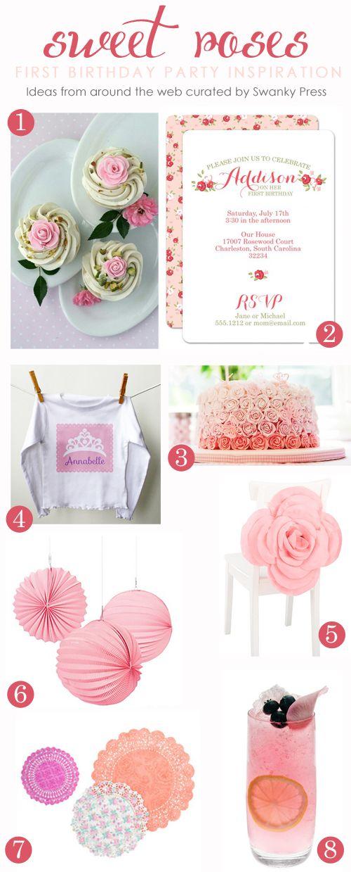sweet roses birthday party idea