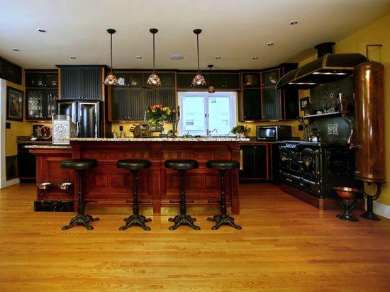 The ModVic House: A Steampunk Kitchen! via TheSteampunkHome