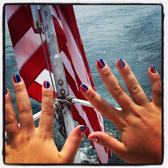 lilfitz1's festive tips. Show us your 4th of July-inspired nails! Tag your pic #SephoraNailspotting to be featured on our social sites.
