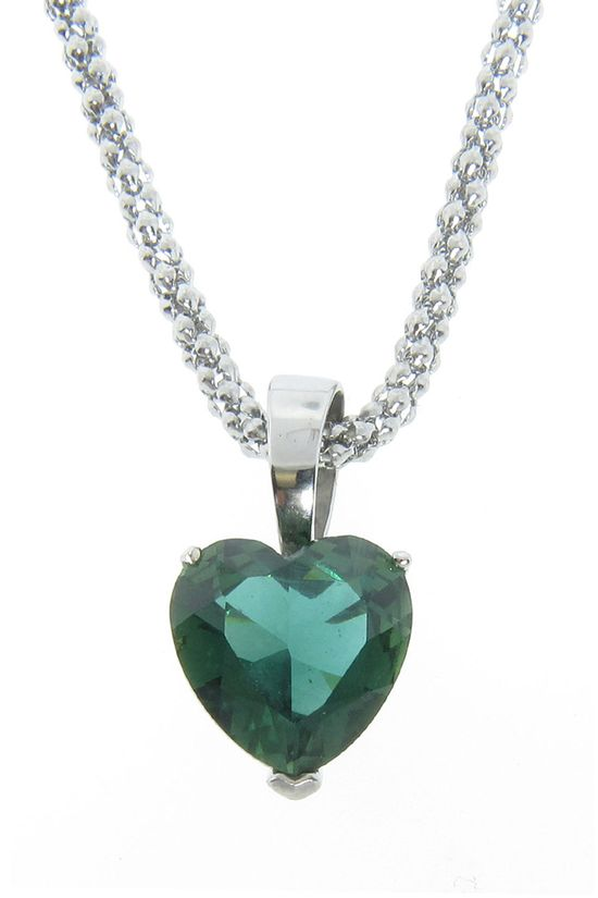 Emerald Crystal Heart Pendant