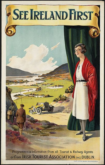 see Ireland travel old poster