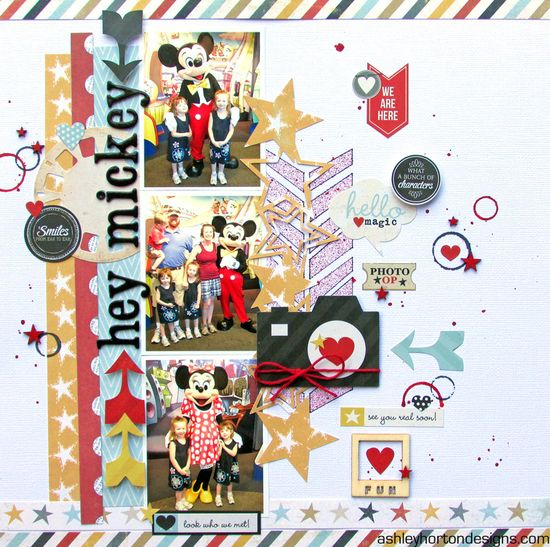 #papercraft #disney #scrapbook #layout    Hey Mickey! - Scrapbook.com