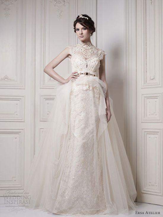 ersa atelier bridal 2013 lace wedding dress cap sleeves
